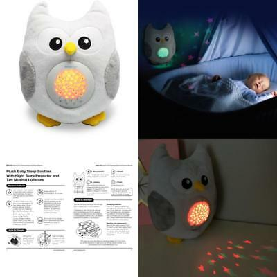 Baby Soother For Sleep Portable Cute Stuffed Animal Owl Soft Night Light Gift