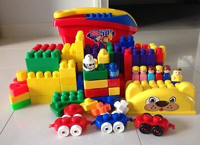 Fisher - Price Mega Bloks Fill & Dump Wagon with 200+ blocks (Good condition)