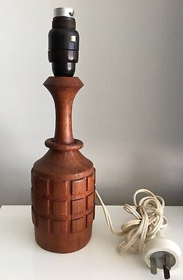 Mid Century Eames Era Danish Style Wooden Teak  Lamp Base