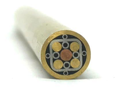 "Mosaic Pin for Knifemaking 1/4"" x 4"" Brass Tube + Copper/Stainless- 1 pin- MP13"
