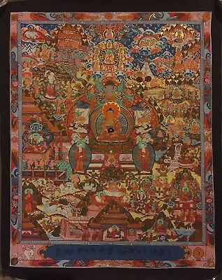 Original Tibetan Chinese Hand Painted Signed Buddha Mandala Painting thangka 001