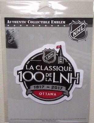 2017 NHL 100th CLASSIC OFFICIAL JERSEY PATCH EMBLEM MONTREAL CANADIENS a496db4ff