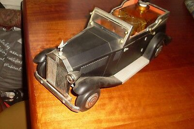 Large Vintage Retro Kitsch Rolls Royce/car Whisky/drinks Musical Decanter