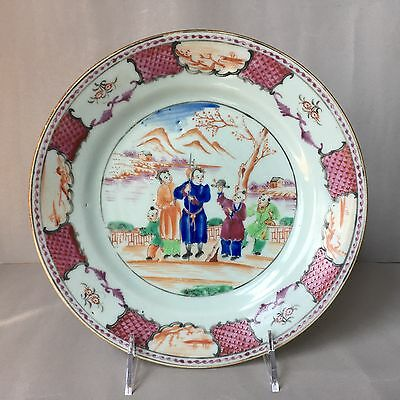 Antique 18th C. chinese export plate ch'ieng-lung ,ch'ing dynasty