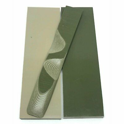"""G10 Knife Handle Scales 1/4"""" x 1.5"""" x 5.5"""" slabs- OD GREEN / BROWN Multicolor"""