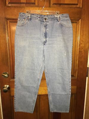 Women's Levis 550 Relaxed Fit Tapered Leg Denim Blue Jeans Size 18 Reg M