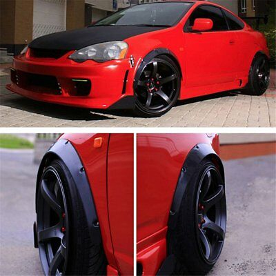 Universal JDM Fender Flares Wheel Arch 2inch (50mm) 4pcs Wide set ABS Plastic OW