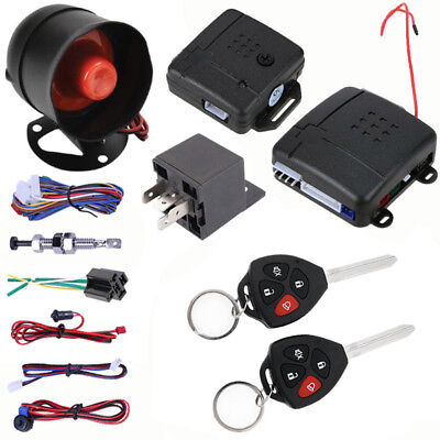 Car Alarm Security System Smart Anti-Theft with 2 Remote Control Style Key Hot