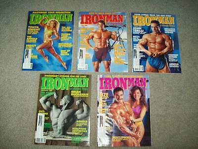 5 vtg IRONMAN MAGS 1989-90 WEIDER bodybuilding crossfit FITNESS homegym IRON