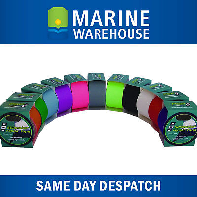 Spinnaker Repair Tape 50mm X 4.5M - Self Adhesive Ripstop Nylon - Colour Options