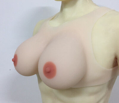 Vest Style Full Silicone Breast Forms Transgender CD D Cup Artifiical Real Boobs