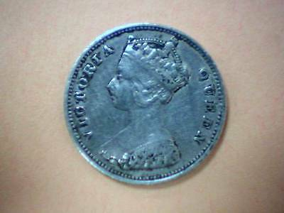 1898 Queen Victoria Silver 10 Cents Hong Kong Coin - Nice Color and Detail - SS3