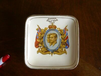 1949 Proposed Royal Visit small plate