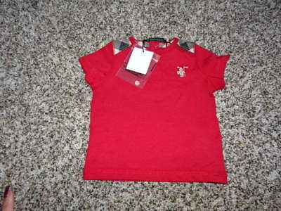 Nwt New Authentic Burberry 3M 3 Months Red Plaid Shirt