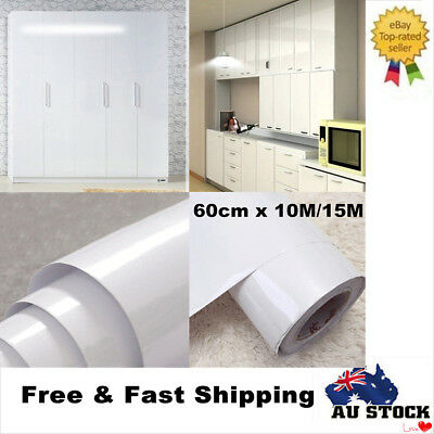 Vinyl Film Contact Paper Cupboard Door Drawer Cover Self Adhesive Oilproof