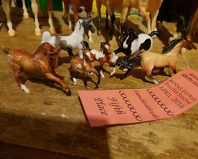 Breyer stablemates lot including one glossy Custom