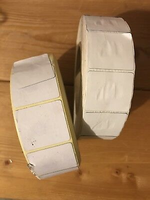 All-Tag Security Labels White Square Tags Lot Of Two