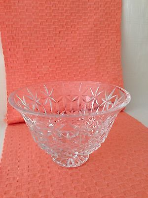 """Waterford Lead Crystal Balmoral footed Bowl 7 3/4x 5""""  signed, Ireland"""