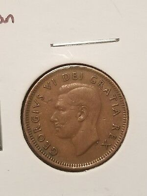 1952 Canadian Penny 1 Cent Piece