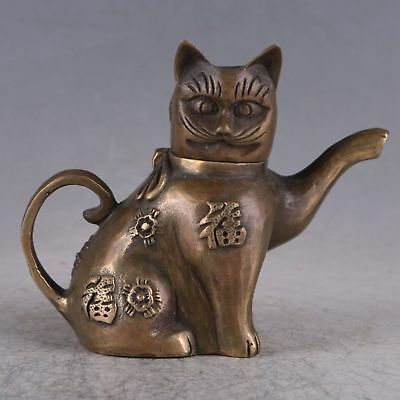 Exquisite Copper Fortune Cat Teapot HT0041