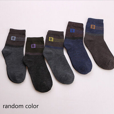 1~5 Pairs Men's Thick Wool Cashmere Casual Sport Winter Warmer Bad Socks lot