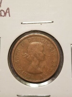 1964 Canadian Penny 1 Cent Piece