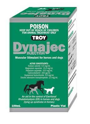 Troy Dynajec inj 100ml, Muscular Stimulant For Horses & Dogs.