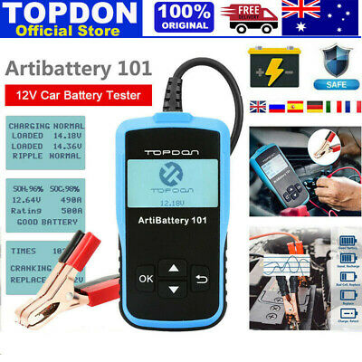 Digital Battery Monitor Charger Analyzer 12V 100-1100CCA Car Battery Load Tester