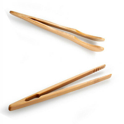Bamboo Wooden Toast Salad Tongs / BBQ Serving / Cake Pastry Clip/Cucumber Pliers
