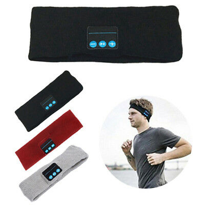 Bluetooth Wireless Sports Headband Headphones Run Gym Sleep Music Headset Mic dk