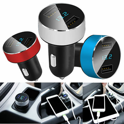 3.1A Car Charger Dual USB Port Cigarette Lighter Adapter Voltage Quick Charge UK