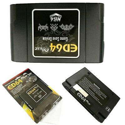 N64 ED64 Plus Game Save Device Cartridge 16GB SD Card Adapter for N64 Console BE