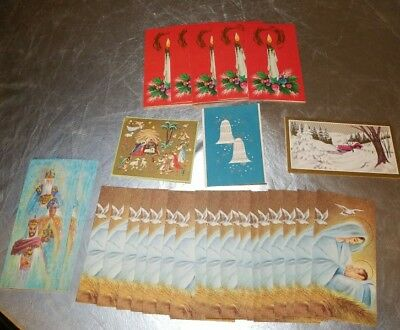 NEW Lot of 28 Vintage GIBSON & Rust Craft Christmas Cards UNUSED with Envelopes