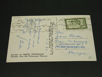 Morocco 1962 picture postcard to Germany *23230