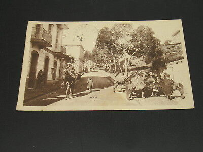 Morocco 1930 Tanger picture postcard to France stains *23325