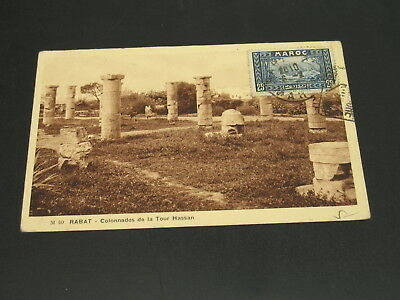 Morocco 1930s? Rabat picture postcard to France *23308