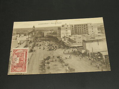 Morocco 1920s Casablanca picture postcard to Hungary *23164