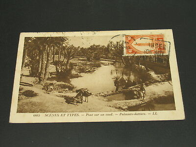 Morocco 1926 Scenes et types picture postcard to France *23310
