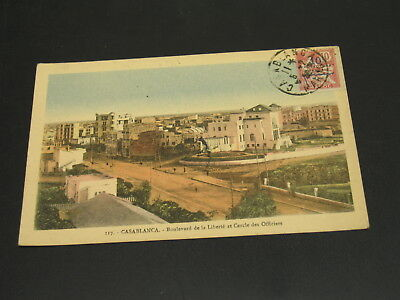 Morocco 1922 Casablanca postage due picture postcard to Hungary -stamp *23163