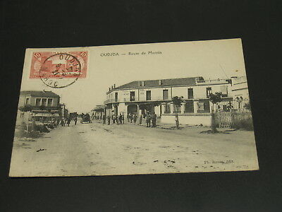 Morocco 1921 Oudjda picture postcard to Hungary *23165