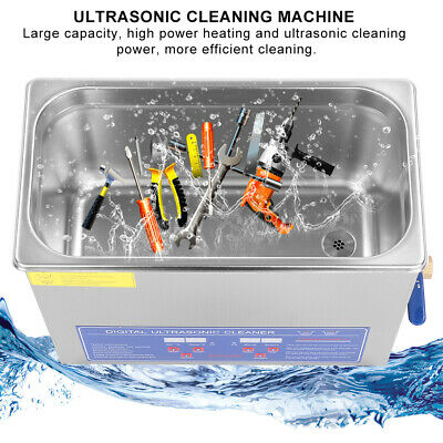 6L Ultrasonic Cleaner Stainless Steel Industry Heated Heater w/Timer F. Jewelry