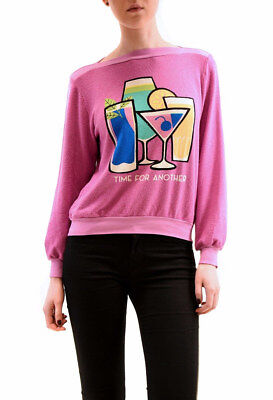 Wildfox WomensTime For Another Brunch Pullover Lavender Pink XS RRP $ 95 BCF78