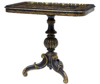 19Th Century Chinese Black Lacquered Tray Table