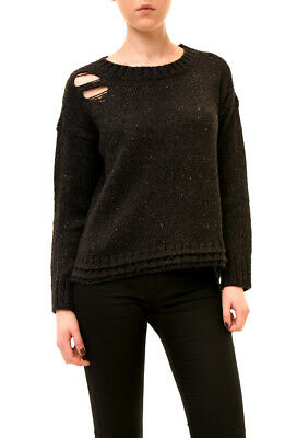 Wildfox Women's Authentic Distressed Long Sleeve Pullover Black S RRP 129 £BCF73
