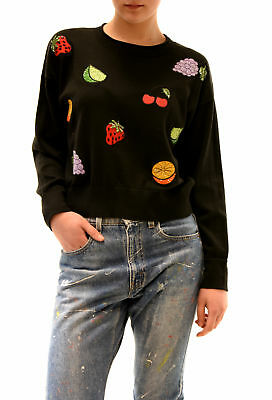 Wildfox women's Dark Moon Sparkly Fruits Pullover Black Size S RRP £169 BCF78