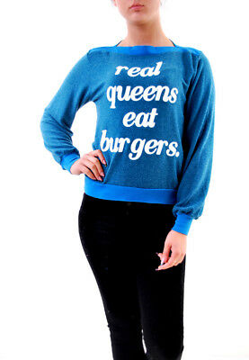 Wildfox Women's Real Queens Baggy Brunch Pullover Blue Size XS RRP £80 BCF610