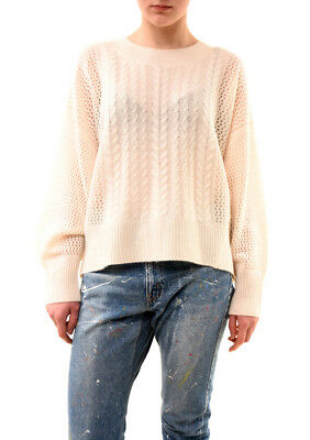 Wildfox Women's Westlake Cable Cashmere Sweater Vanilla Size S RRP £259 BCF73