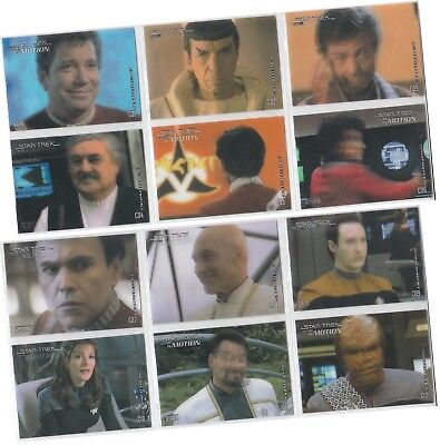 "Star Trek Movies In Motion: 12 Card ""Stars In Motion"" Chase Set CO1-CO12"