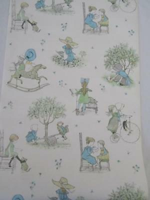 Rare Vintage HOLLY HOBBIE Roll Wallpaper - Dolls House Drawer Liners Book Covers