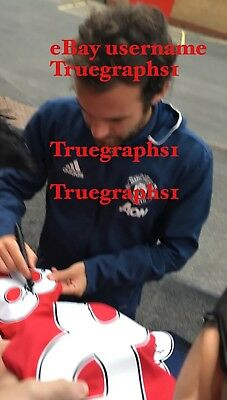 Juan Mata Hand Signed Manchester United Shirt 2016/17 Picture Proof Coa